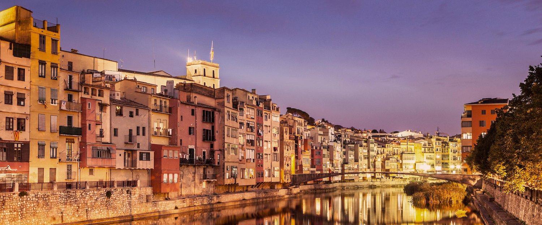 The facades of Girona