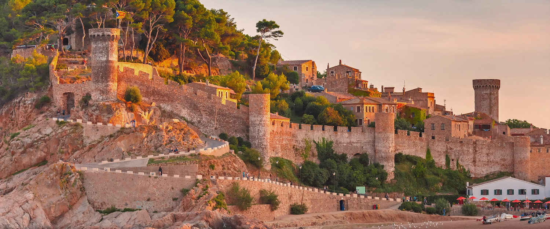 El Castell de Tossa y Tossa de Mar