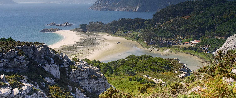 Islas Cíes en la ria de Vigo