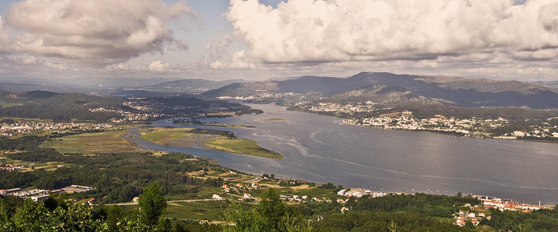 Vista de las Rías Baixas desde uno de los miradores