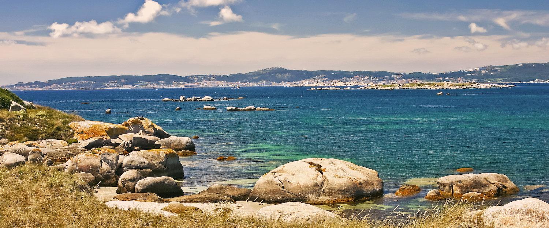 La costa gallega en los alrededores de Marín