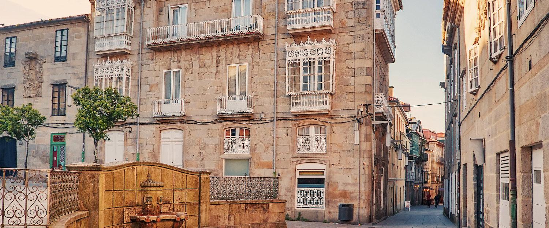 Calles en la cercana Pontevedra