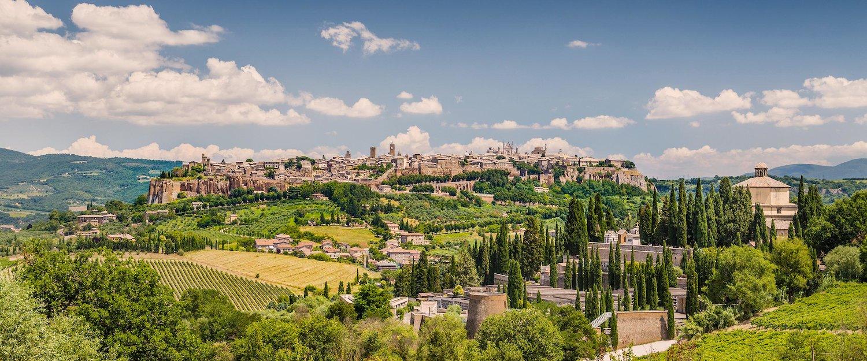 The beautiful village of Orvieto in Umbria