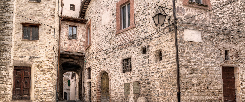 I bellissimi vicoli di Spoleto.