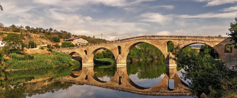 Puente de la reina en Navarra