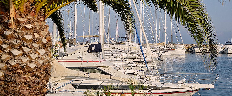 Der Hafen in Le Lavandou.