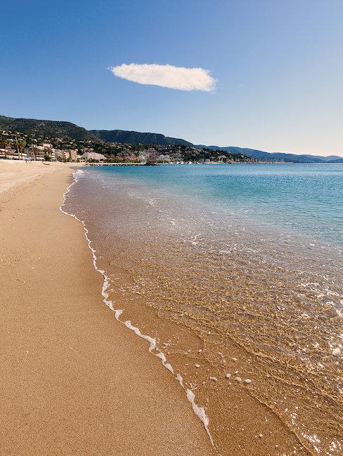 Der Strand von Le Lavandou.