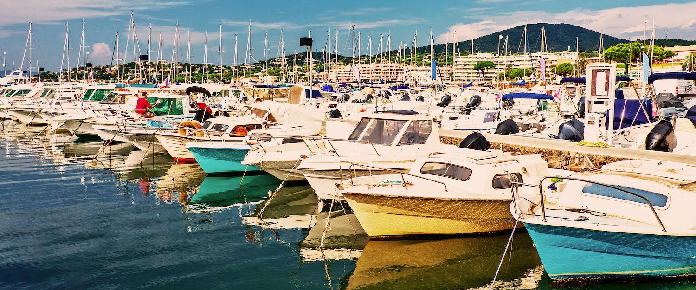 Boote im Hafen von Sainte-Maxime
