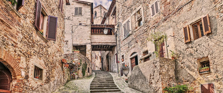 Las casas tradicionales de piedra de Arrezzo