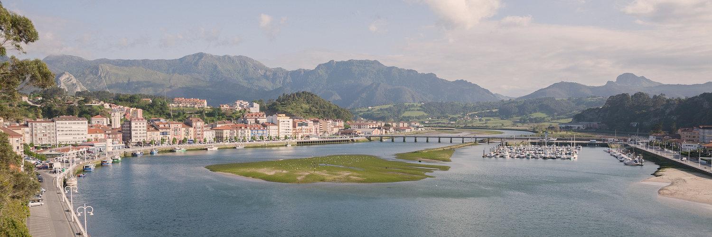 Ribadesella y el rio Sella