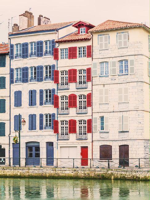 Maisons colorées Bayonne