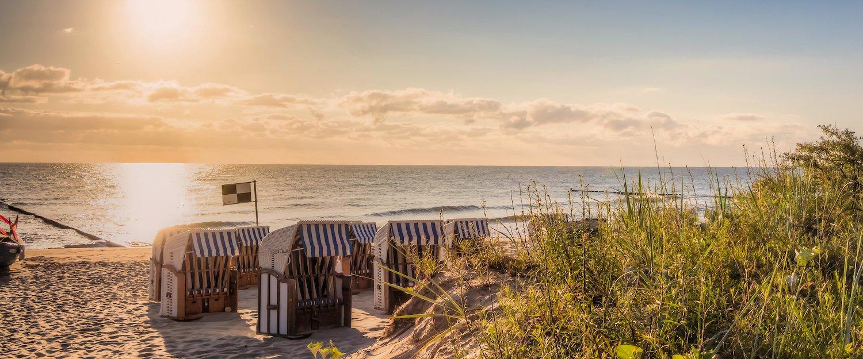 Sonnenuntergang am Strand von Kellenhusen