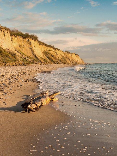 Het strand van Zingst bij zonsondergang