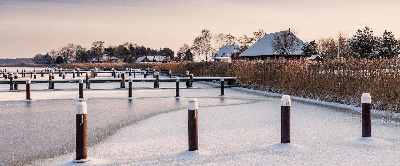 Die idyllische Winterlandschaft von Prerow
