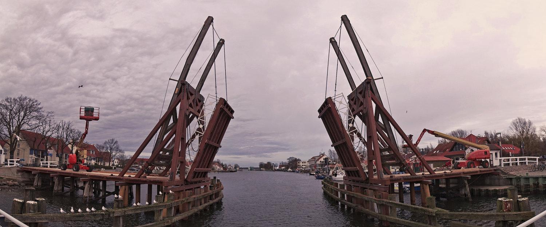 Die historische Zugbrücke in Wiek