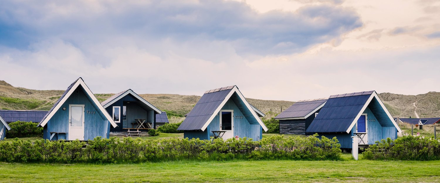 Blue huts on Sylt