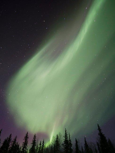 W północnej części Szwecji można podziwiac zorzę polarną