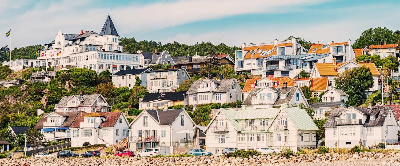 Den sjarmerende byen Mölle i Sør-Sverige