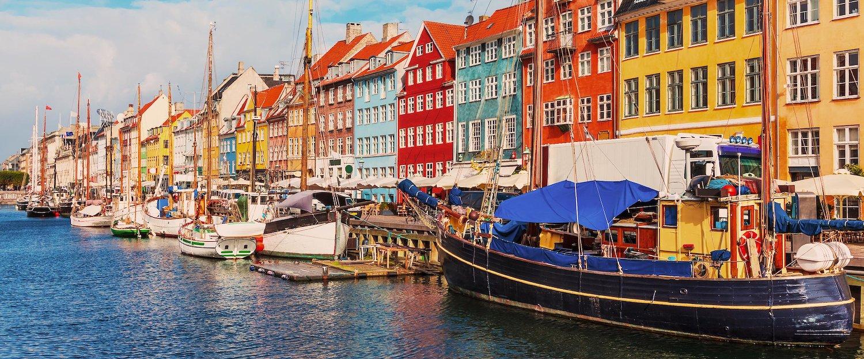 Las coloridas casas en Copenhague