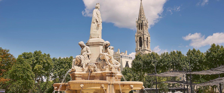 Esplanade Charles de Gaulle von Nimes, Provence, France