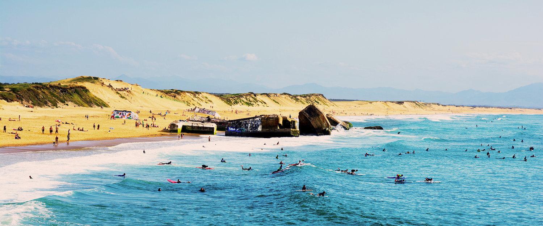 Playa de surfistas en Hossegor