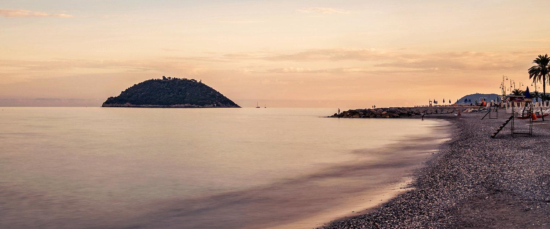 Sonnenuntergang in Albenga
