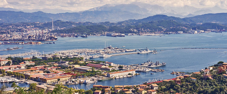 Vista panoramica di La Spezia.