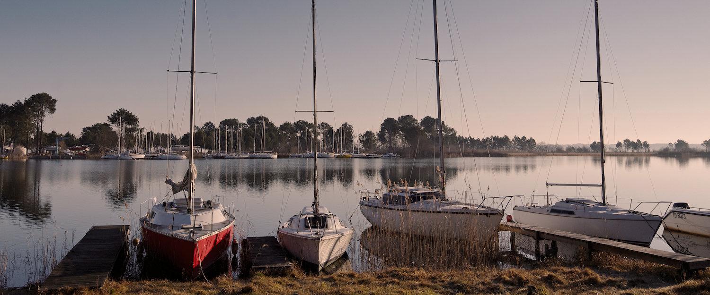 Biscarose meer in Aquitaine Land