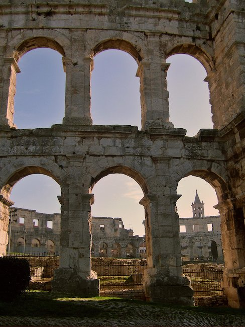 Romeins colloseum in Pula