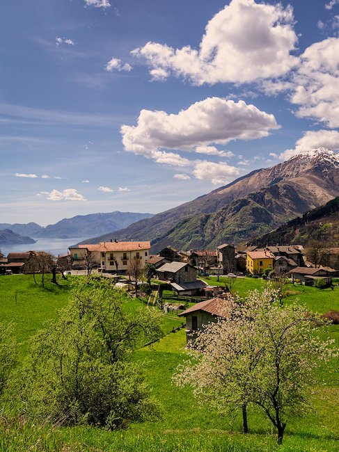 Beautiful mountain landscapes in Lombardy