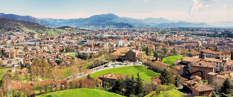City silhouette of Bergamo