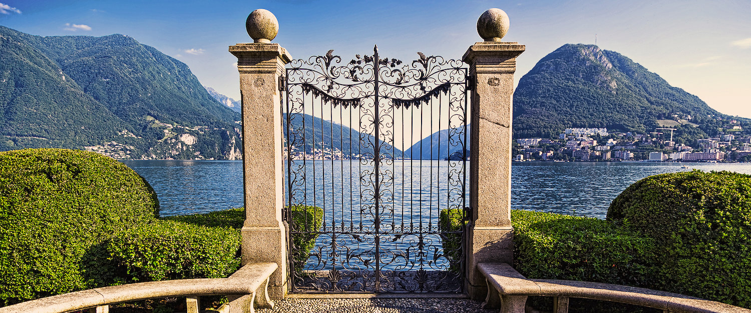 The gateway to Lake Lugano