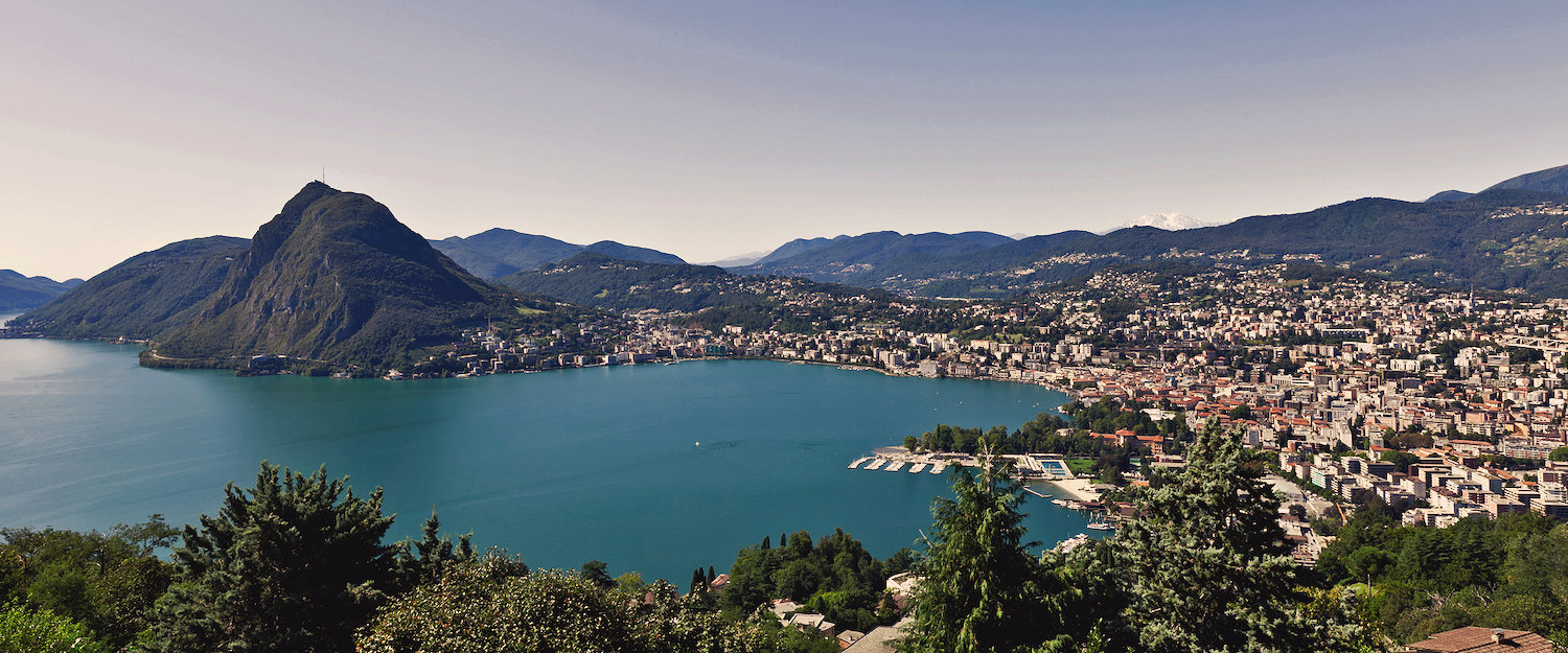 Fantastic view over Lugano and the lake