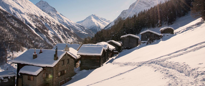Genießen Sie die einzigartige Winterlandschaft.