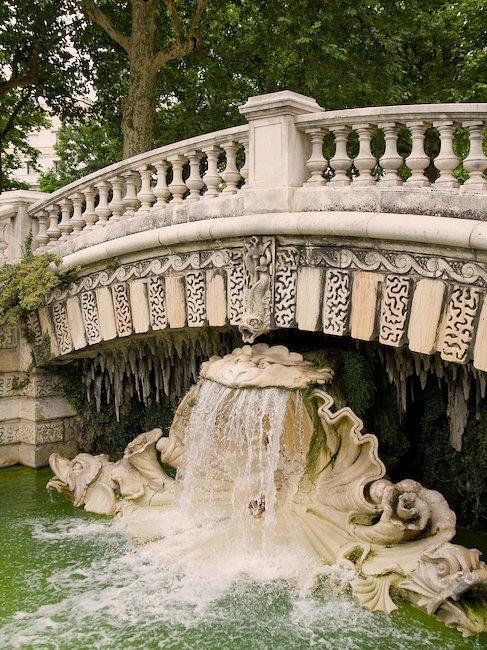 Fountain in Darcy Park in Dijon