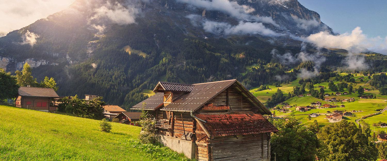 Herrliche Alpenlandschaft in Grindelwald