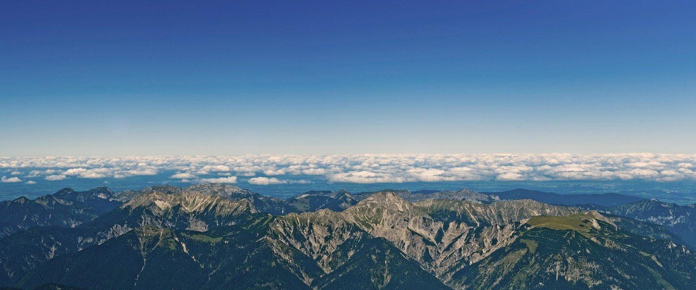 Urlaub mitten in den Bergen.