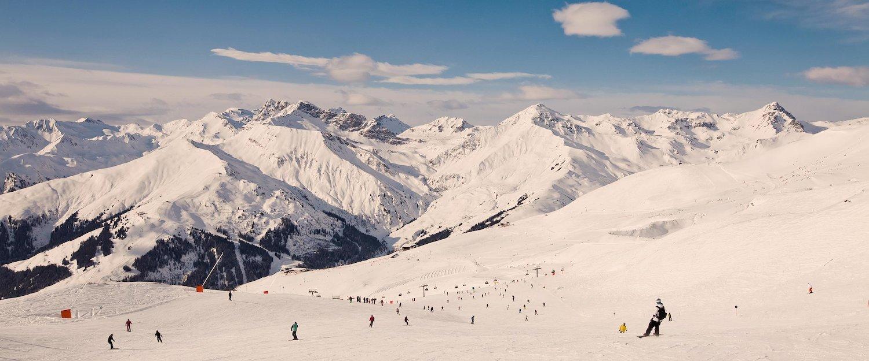 Skigebiet im Zillertal bei Sonnenschein