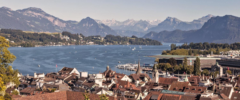 Ausblick auf Luzern am Vierwaldstättersee