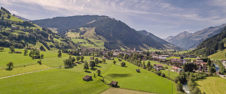 Alpenlandschaft bei Rauris in Österreich
