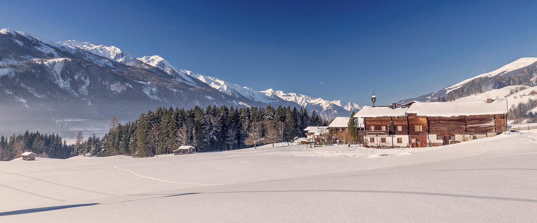 Schneelandschaft in Kitzbühl