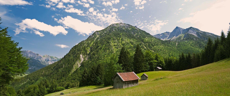 Idyllisch bergpanorama in Bad Hindelang