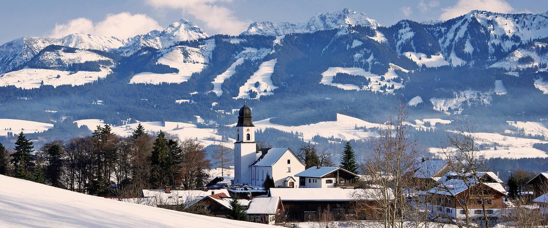 Ofterschwang: Beliebter Wintersportort im Allgäu