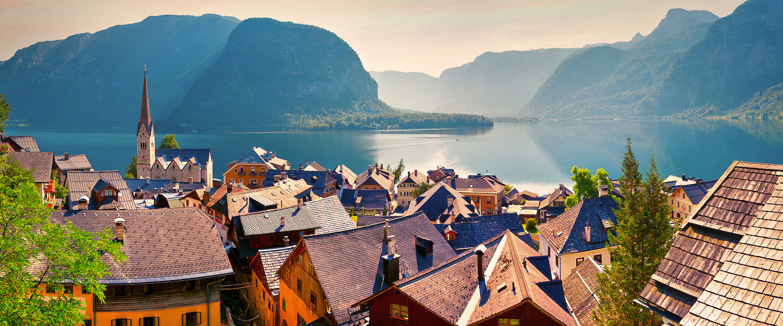 Idyllisches Dorf Hallstatt am Hallstätter See