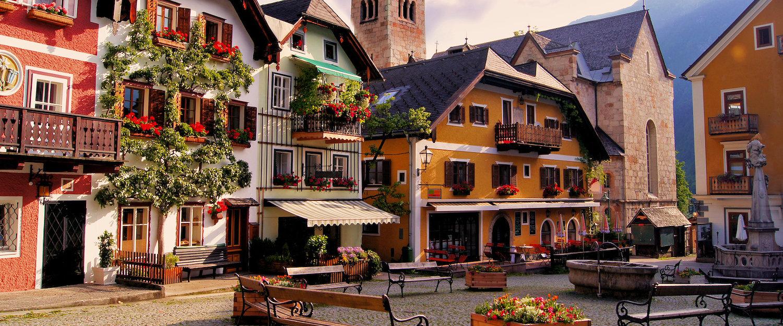 Malerische Altstadt in Hallstatt