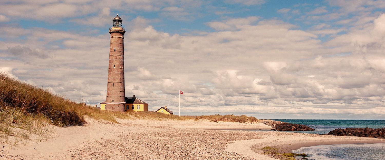 Leuchtturm am Strand von Skagen