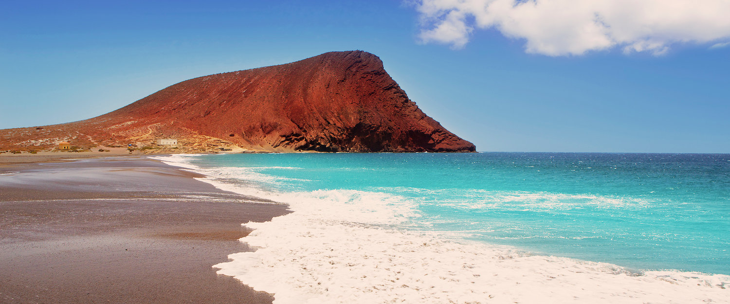 Beach landscape on the Canary Islands