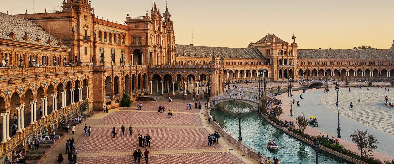 La mundialmente conocida plaza mayor de Sevilla
