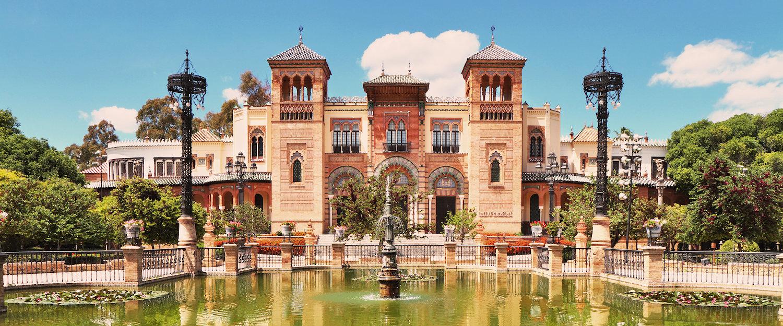 Das Museum Pabellon Mudéjar im Parque de María Luisa
