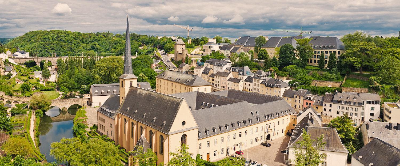 Abtei Neumünster im Stadtteil Grund der Stadt Luxemburg